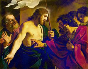 Gesù risorto apostoli Guercino