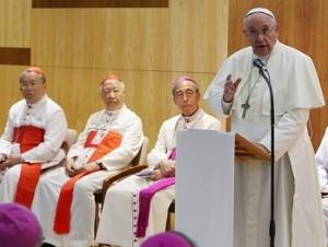 papa e vescovi coreani