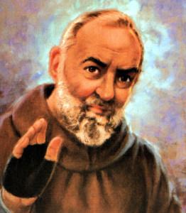 Padre Pio affresco
