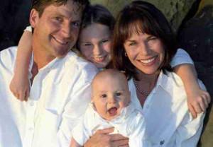 color portrait of a caucasian family