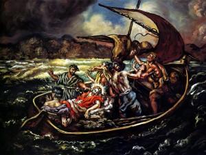 Christ and the Storm Giorgio de Chirico, 1914