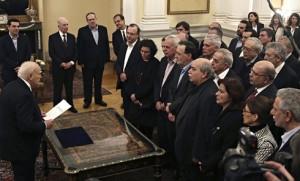 Greek cabinet sworn in