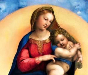 Raffaello Sanzio; La Madonna di Foligno; tempera grassa su tavola trasportata su tela; 1512 ca; Musei Vaticani; Pinacoteca Vaticana; Inv. 40329