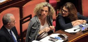 Foto Fabio Cimaglia / LaPresse17-02-2016 RomaPoliticaSenato - ddl Unioni CiviliNella foto Monica CirinnàPhoto Fabio Cimaglia / LaPresse17-02-2016 Rome (Italy)Senate - Draft law on civil unionsIn the photo Monica Cirinnà