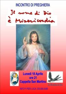 Cappella San Martino - Inc. Preghiera