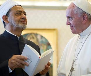 Papa Francesco e  Ahmad Muhammad al-Tayyib