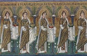 Virgin Martyrs in San_Apollinare_Nuovo_in_Ravenna_
