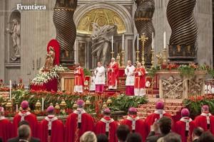 Roma, 29-06-2013. Basilica vaticana. Solennita' dei santi Pietro e Paolo Apostoli. Benedizione e imposizione dei Palli da parte di Sua Santità Papa Francesco.