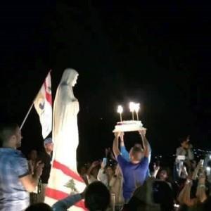 pell. libanesi festeggiano il compleanno della Madonna